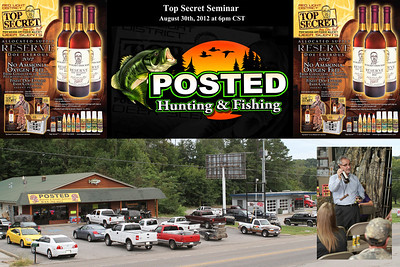 "On Thursday August 30th, 2012 Demp Bell presented Top Secret Deer Scents during a promotion at Posted Hunting and Fishing located in Lawrenceburg, Tennessee. Demp's Brother Don Bell, who was the founder of Code Blue deer scents and America's foremost whitetail scent specialist, presented ""Top Secret"" deer scents during a seminar on ""HUNTING THE RUT"". Folks from all over attended the seminar and when asked one young lady said ""WOW, Now I can out hunt my boyfriend!"". During the seminar we learned how to hunt pre, peak, and post rut periods, How to hunt primary and secondary scrapings, How to use grunt calls and rattling effectively, How to use deer scents correctly and effectively and How to control human odor.  We had a great time and took away some much needed info on ""Hunting the Rut!"". Posted will host the 2013 Seminar on Thursday August 30th, 2013 at 6:00 pm. See ya there!! Photography By Lloyd Kenney III (C) 2012 All Rights Reserved."