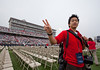 Students participate in Liberty University's 2011 Commencement exercises on May 14, 2011. (Photo by AJ Chan)