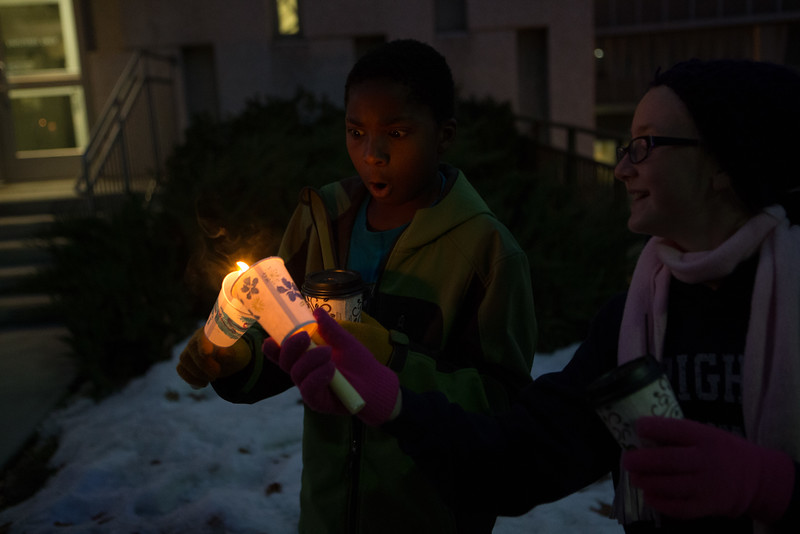 1401-26 179  1401-26 MLK Martin Luther King Walk of Life  Candle light walk from bell tower to Wilkinsons center  January 20, 2014  Photo by Todd Wakefield/BYU  Copyright BYU Photo 2013 All Rights Reserved photo@byu.edu   (801)422-7322
