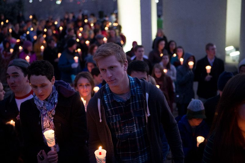 1401-26 146  1401-26 MLK Martin Luther King Walk of Life  Candle light walk from bell tower to Wilkinsons center  January 20, 2014  Photo by Todd Wakefield/BYU  Copyright BYU Photo 2013 All Rights Reserved photo@byu.edu   (801)422-7322