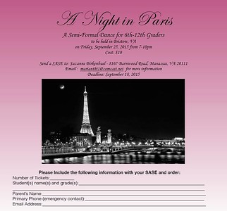 A Night in Paris Homecoming Dance