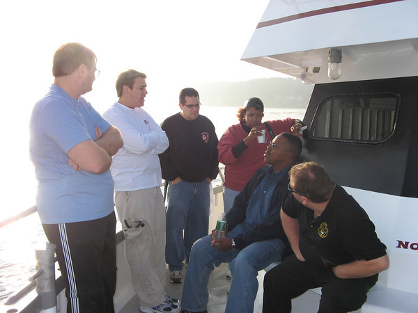 A meeting breaks out discussing the different approaches we will take on this day.   Rich, Glenn, Joe, Alethia, Vince and John