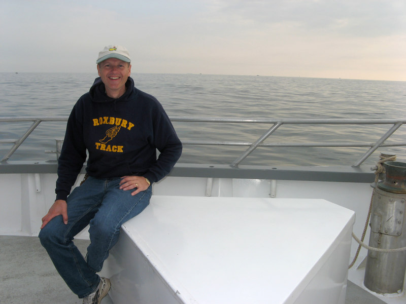 Mark just waiting for the captain to drop anchor