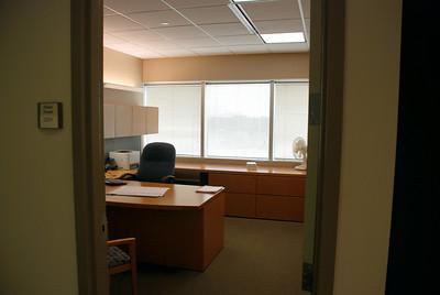 Glenn's empty office