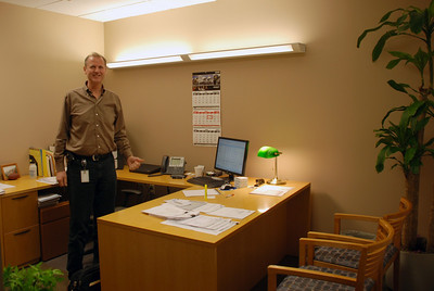 Mark in his office