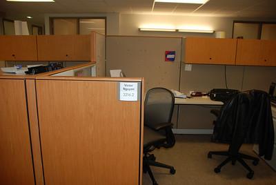 Victor's empty desk