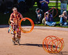 I think that Dallas Arcand used the most hoops during his routine.<br /> This World Champion Hoop Dancer placed 4th in this year's competition