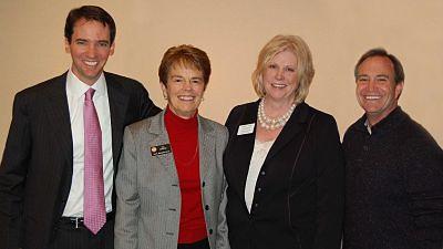 Former Speaker of the House of Representatives Andrew Romanoff, State Representative Sue Schafer, State Representative Cheri Jahn & Congressman Ed Perlmutter
