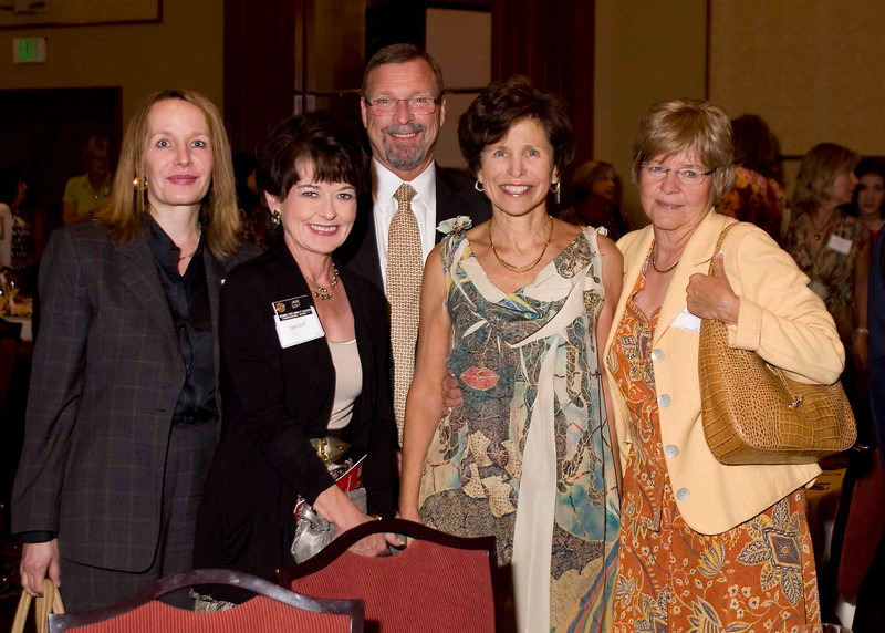 Board of Education Members Jane Goff, Elaine Gantz Berman and Angelika Schroeder are joined by Director of State Board Relations Carey Markel (left) and Commissioner of Education Robert Hammond