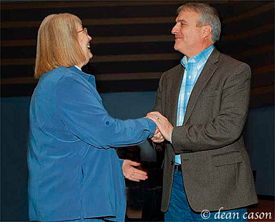 Jefferson County Chair 2009-2010 Ann Knollman and Governor Bill Ritter