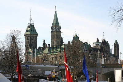 The Ottawa parliament buildings.