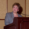 Luncheon Event Chair and Denver Health Foundation Executive Director Paula Herzmark presents award to Elaine Gantz Berman