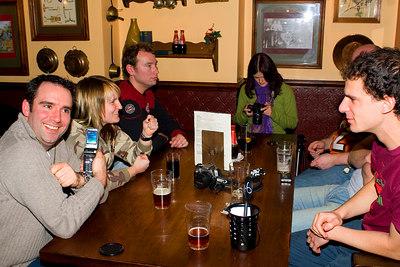 In the pub.... Argonaut1973, Nicole the Canadian, egonlinden, jaymeekae, MrNelson (just!), pineapplecharm
