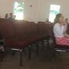 Sunday, July 16, 2017 VBS kids singing Bible verse Psalm 46:1