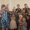 Sunday, July 16, 2017 VBS kids singing In Jesus, The Victory is Won!
