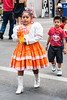 She was wearing a traditional Costume heading to Dance Performers area at Cinco de Mayo Festival!