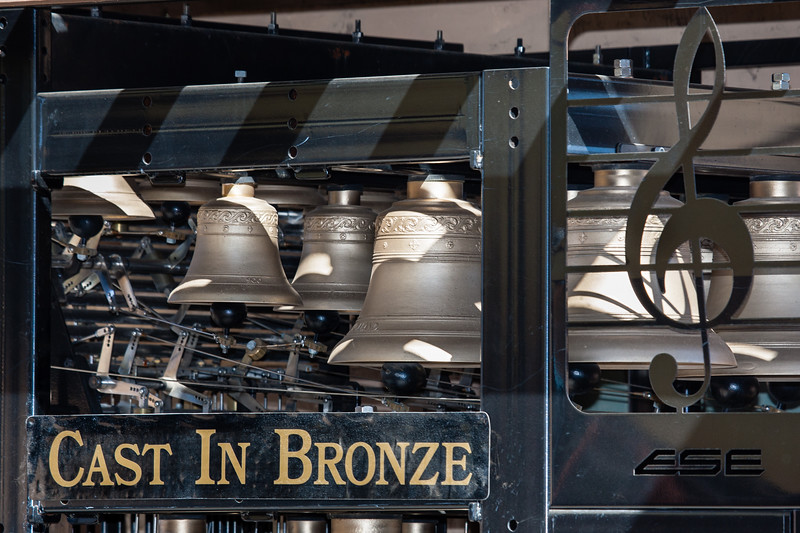 "Click for Information and to Hear </font> <a href=""http://www.castinbronze.com""> <font color=""Orange"">  ""Cast In Bronze""  </a> </font> which is a musical act, notably including one of the few portable carillons.  A carillon is a musical instrument composed of at least 23 carillon bells, arranged in chromatic sequence, so tuned as to produce concordant harmony when many bells are sounded together. It is played from a keyboard that allows expression through variation of touch. The keys are struck with the half-closed hand. In addition, the larger bells are connected to foot pedals."