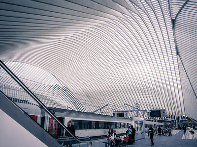 Liege station, amazing roof