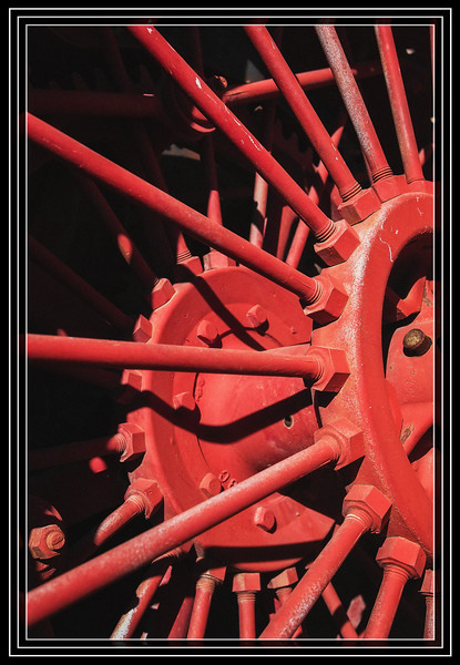 """Old Tractor Wheel Hub and Spokes </font><font color=""""MediumTurquoise"""">Thank You for Making this Daily Photo the <font color=""""Silver"""">#2 Pick<font color=""""MediumTurquoise""""> on 04/25/2013 </a></font>  </font> <a href=""""http://www.rickwillis-photos.com/Portfolio/Best/Hidden-Photos-Without-Frames/26709550_DZD78d#!i=2475664339&k=9Ccdjtq""""> <font color=""""Red"""">Link to Photo Without Frame</a> </font> <font color=""""Grey"""">"""