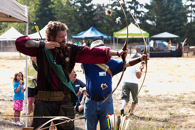 Medieval Day at The Raptors - Cowichan Valley, Vancouver Island, BC, Canada