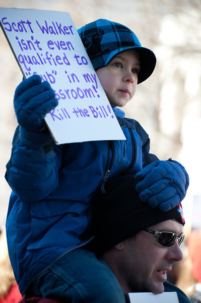Protests in Madison, WI 2011