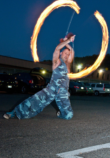 fire dancing at Urban Evolution