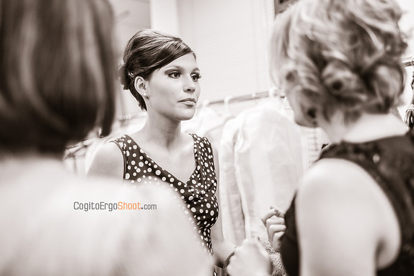 backstage at Vancouver Fashion Week 2013 with Shelley Klassen and Blushing Boutique