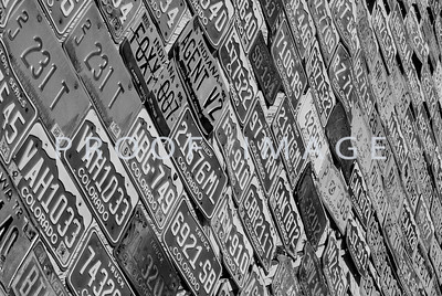 License Plate Wall - Morrison, Colorado