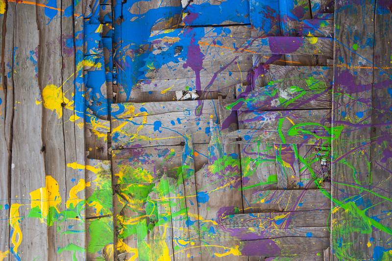 Paint Splattered Wood Boards