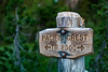 Pacific Crest Trail 2000 Sign Post