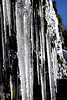 A ribbed pattern forms along many large icicles along the edge of Angora Peak.