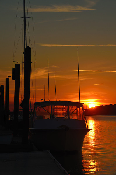 SOLD - Sunset at the dock.