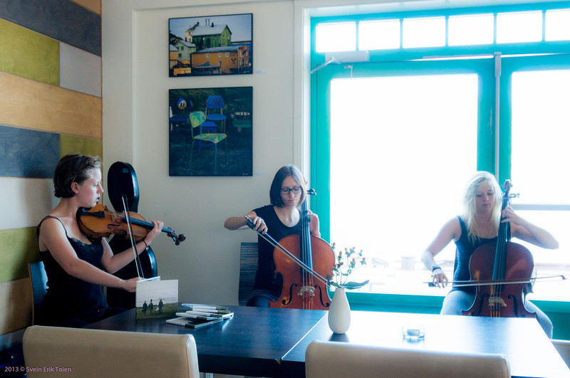 Exhibition opening 27. of July 2013 - Sirenerne playing music by Tine Surel