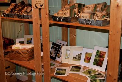 My photos on display at Winter Caplanson's Sleepy Moon Soaps open studio.