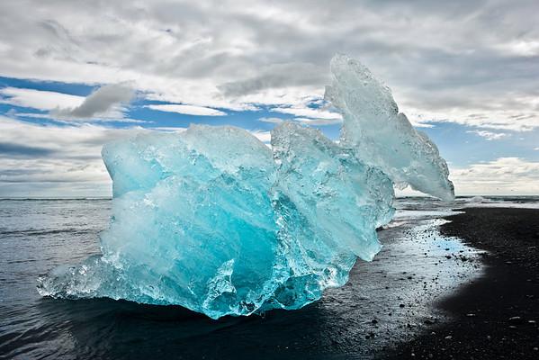 Glacier Ice on Beach - Jokulsarlon - Iceland