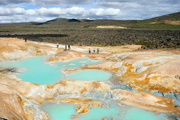 Geothermal Pools, Leirhnjùkuri, Iceland (near Lake Myvatn)