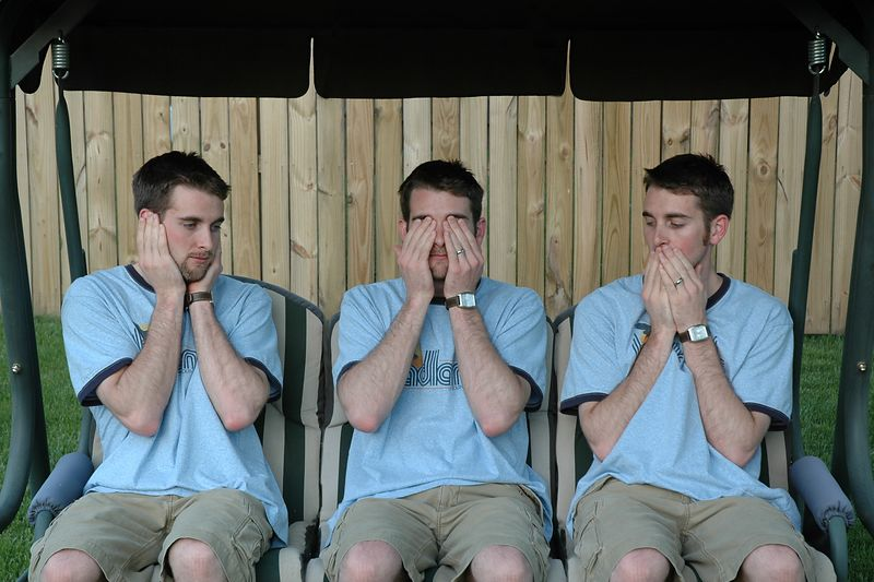 Hear No Evil. See No Evil. Speak No Evil.  I'm sure you already figured that out.