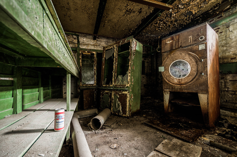 Drink & Fold (Abandoned Prison)  © Scott Frederick Photography