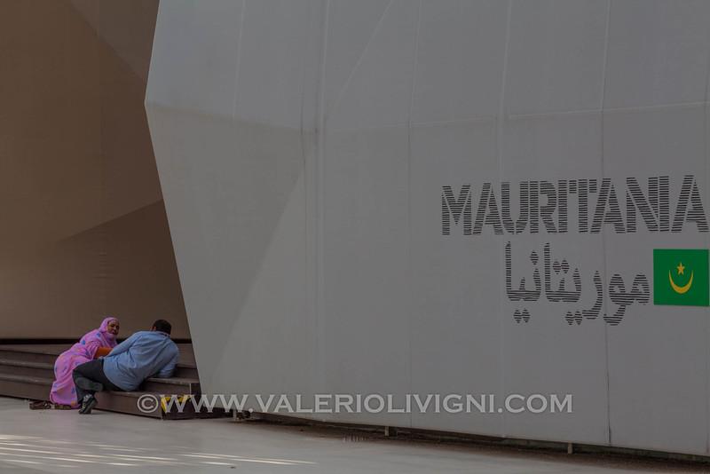 Expo 2015: Outside the Mauritanian Pavilion - All'esterno del padiglione della Mauritania