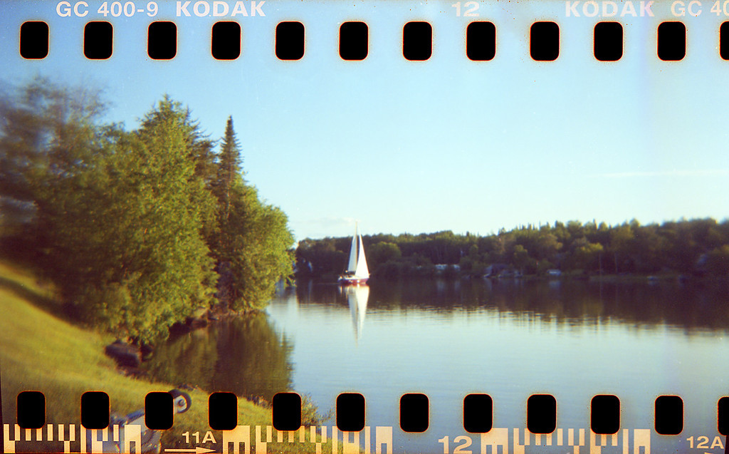 Holga loaded with 35mm film