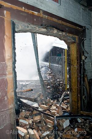 Building explosion explosionon Chicago's West Side 3/10/06.