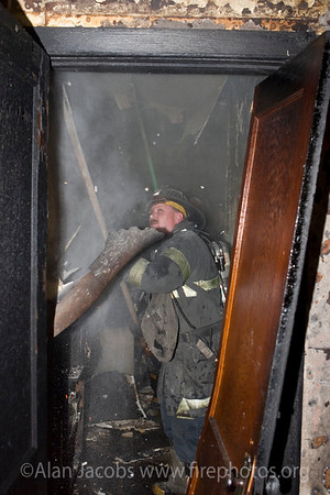 Squad 5 fireman Pat Noonan during overhaul.