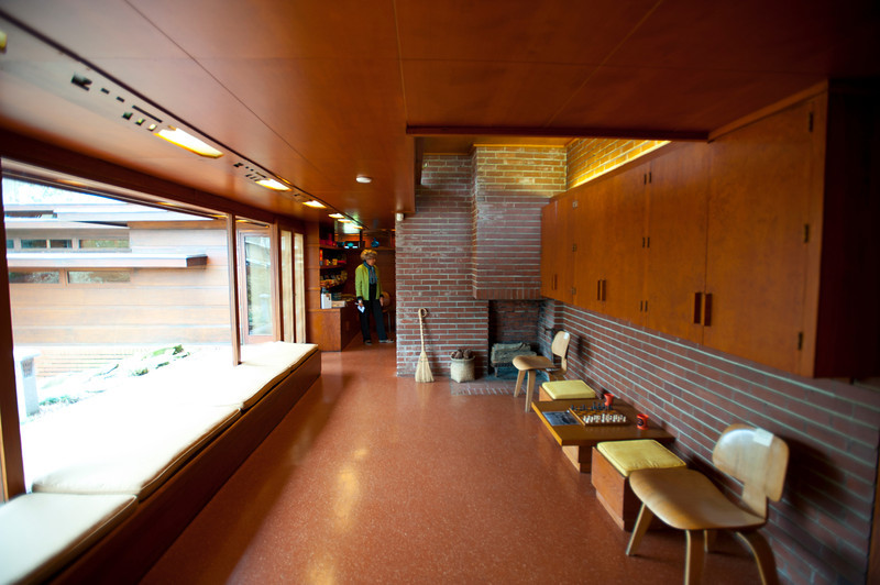 North America, USA, Alabama, Florence, Frank Lloyd Wright Usonian House of Stanley and Mildred Rosenbaum, Boys Bunkroom Area