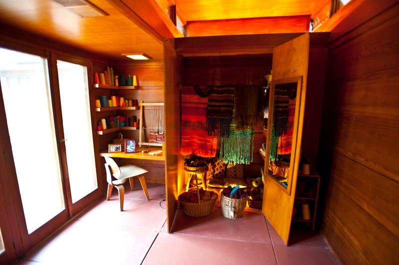 North America, USA, Alabama, Florence, Frank Lloyd Wright Usonian House of Stanley and Mildred Rosenbaum, Weaving Room