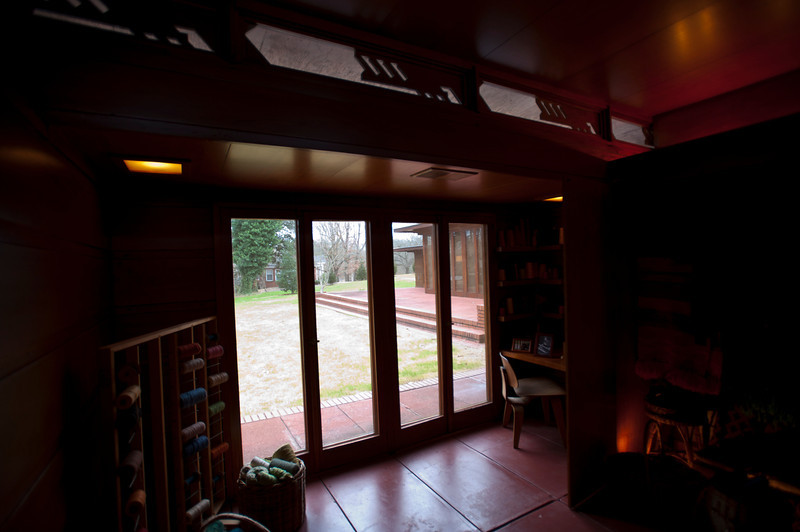 North America, USA, Alabama, Florence, Frank Lloyd Wright Usonian House of Stanley and Mildred Rosenbaum, Weaving Room
