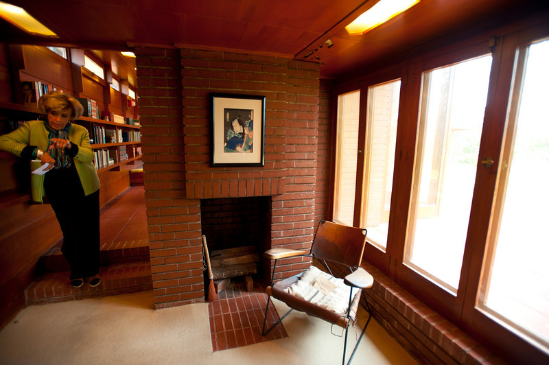 North America, USA, Alabama, Florence, Frank Lloyd Wright Usonian House of Stanley and Mildred Rosenbaum, Study
