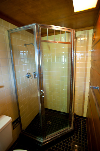 North America, USA, Alabama, Florence, Frank Lloyd Wright Usonian House of Stanley and Mildred Rosenbaum, Bathroom