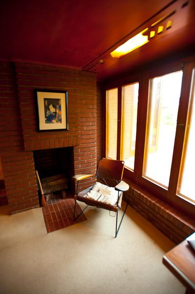 North America, USA, Alabama, Florence, Frank Lloyd Wright Usonian House of Stanley and Mildred Rosenbaum, Study