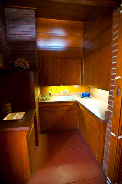 North America, USA, Alabama, Florence, Frank Lloyd Wright Usonian House of Stanley and Mildred Rosenbaum, Kitchen Area