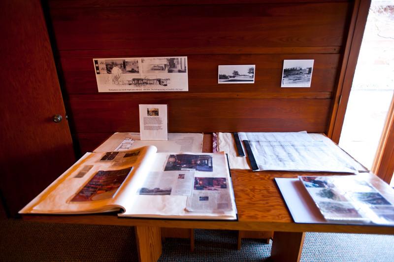 North America, USA, Alabama, Florence, Frank Lloyd Wright Usonian House of Stanley and Mildred Rosenbaum, Drafting area